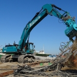 Dehaco hydraulic demolition and sorting grabs